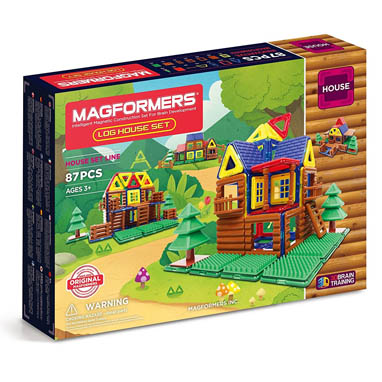 2017 Pre-K Holiday Gift Guide Magformers Log House Set