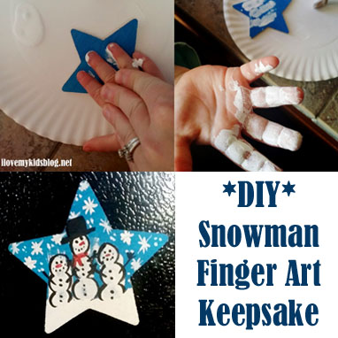 {DIY Tutorial} Create a Holiday Keepsake that Will be Forever Cherished with This Snowman Finger Art