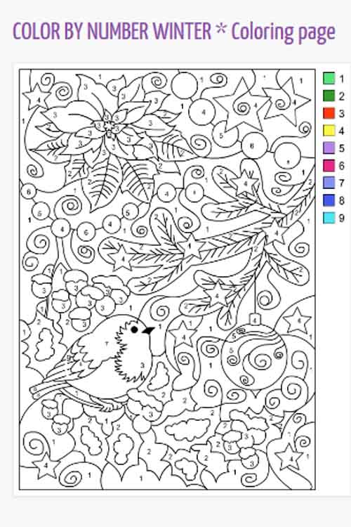 Sample Color By Number Picture Available From Nicoles Free Coloring Pages