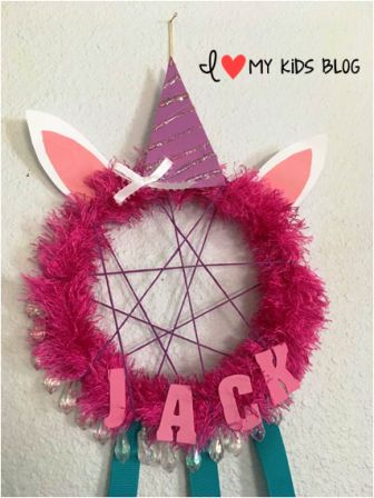DIY Unicorn Dream Catcher Craft 13