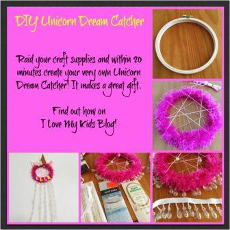 DIY Unicorn Dream Catcher Craft