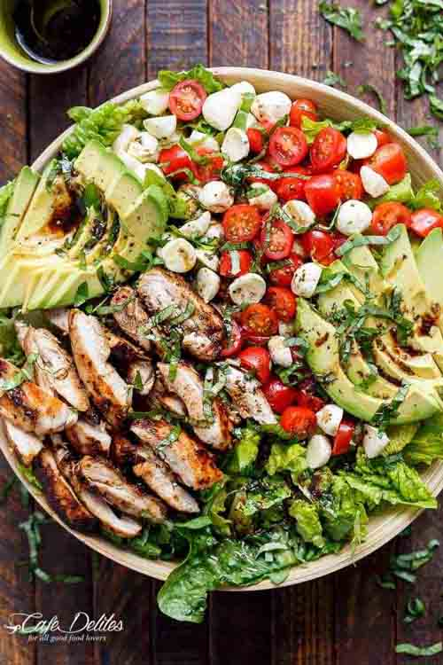 Veggies Most: Chicken Avocado Caprese Salad