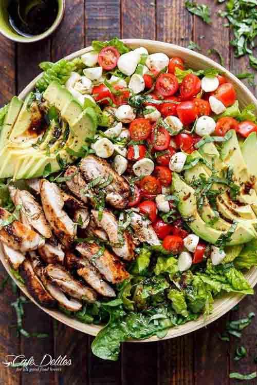 Veggies Most: Chicken Avocado Caprese Salad