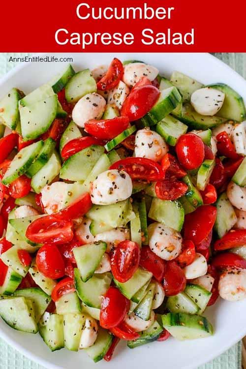 Veggies Most: Cucumber Caprese Salad