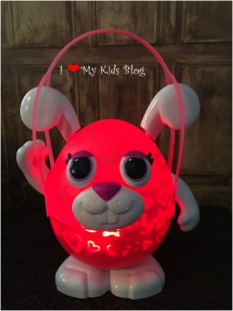 Playbrites bunny with handle turned on