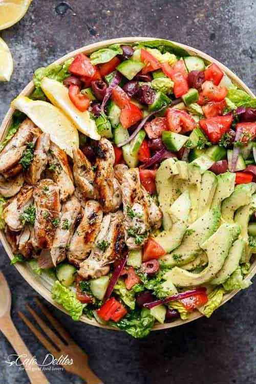 Veggies Most: Grilled Chicken Lemon Herb Mediterranean Salad