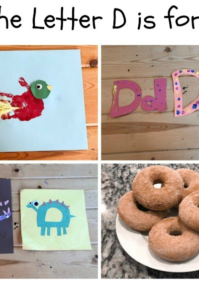 D is for Dinosaur, Duck, Dot and Doughnut: Preschool Activities for the Letter D