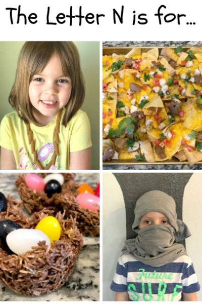 N is for Necklace, Nacho, Nest and Ninja: Preschool Activities for the Letter N