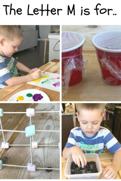 M is for Marshmallow, Maraca, and Magnet: Preschool Activities for the Letter M