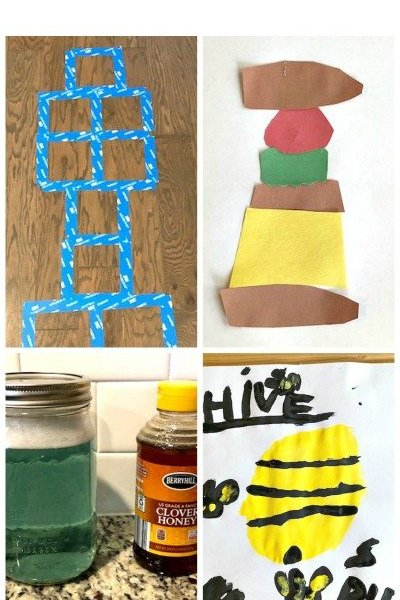 H is for Hopscotch, Hamburger, Honey Bubbles and Hive: Preschool Activities for the Letter H