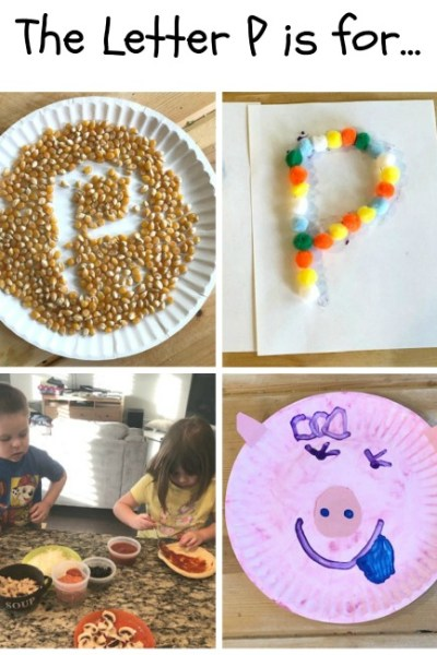 P is for Popcorn, PomPom, Pizza and Pig: Preschool Activities for the letter P