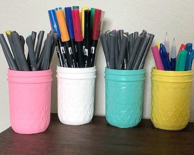 How to Make DIY Mason Jar Pen Holders for Your Desk