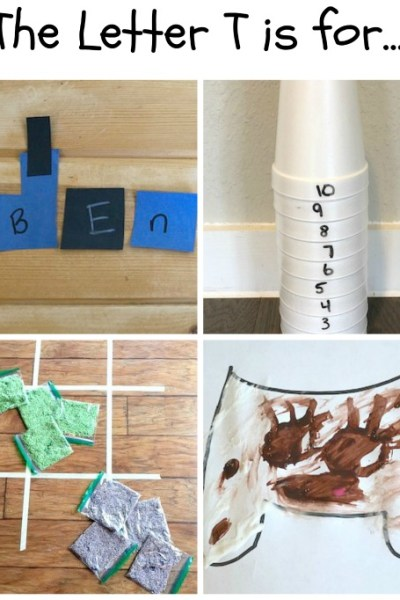 T is for Tower, Train, Tooth and Toss: Preschool Activities for the Letter T