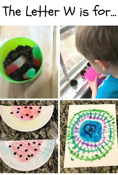 W is for Worm, Water, Watermelon and Web: Preschool Activities for the Letter W