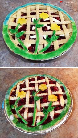 Beautiful pies colored spring crust