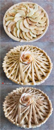 eautiful pies geomtric apple pie