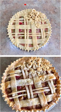 Beautiful pies lattice weave