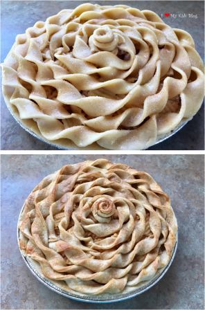 Beautiful pies spun crust