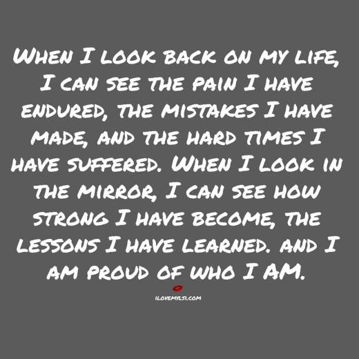 I am proud of who I am