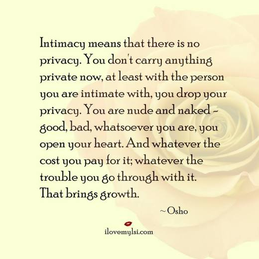 Intimacy Brings Growth