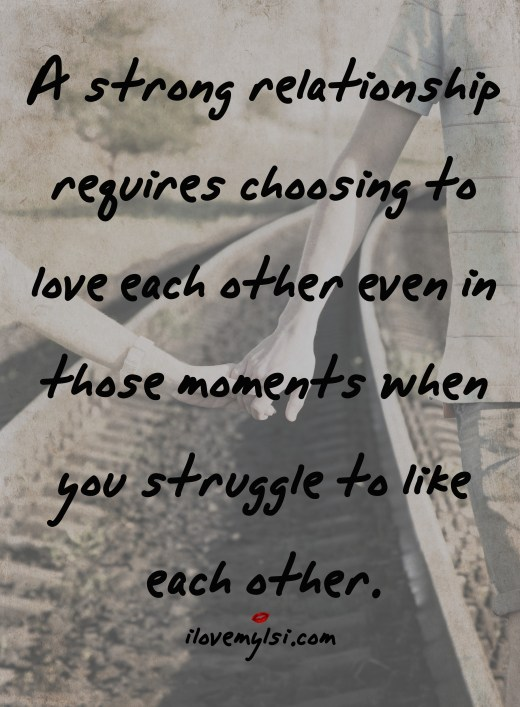 a strong relationship requires love