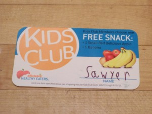 Shaws Supermarket Healthy Eaters Kids Club Free Snack ILoveNewton