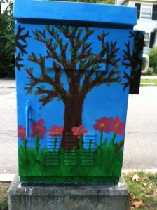 Newton street art, Chestnut BoxART, Chestnut Street