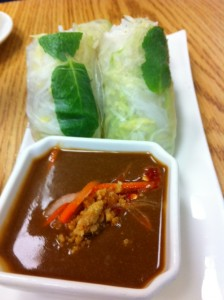 fresh spring rolls, pho and spice, waltham