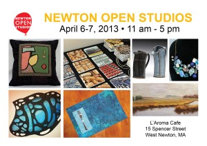 Newton Open Studios, Newton MA, art showings, L'Aroma Cafe