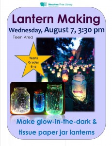 Newton Free Library, Lantern making event