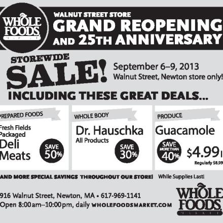 Whole Foods Newton Specials