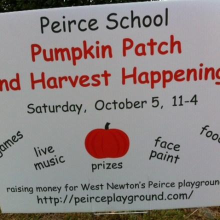 Peirce Elementary School Playground Pumpkin Patch Fundraiser