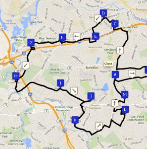 Tour de Newton route