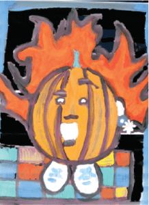 Halloween Window Painting Newton MA
