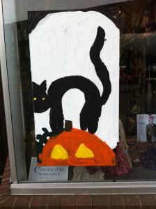 Newton MA Halloween Window Painting Contest