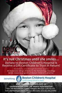 Cook Chef Hosts Holiday Fundraiser for Boston Children's Hospital