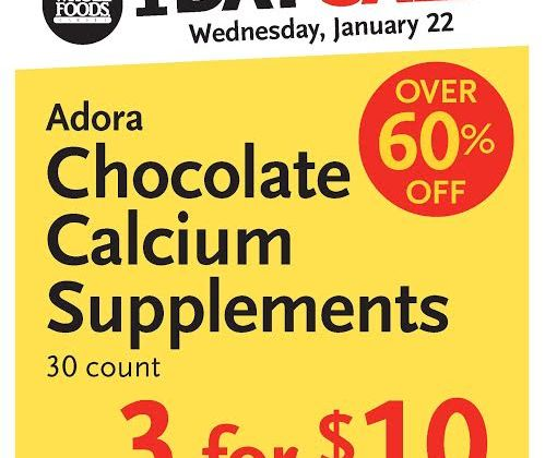 Whole Foods Newton sale Adora Chocolate calcium supplements