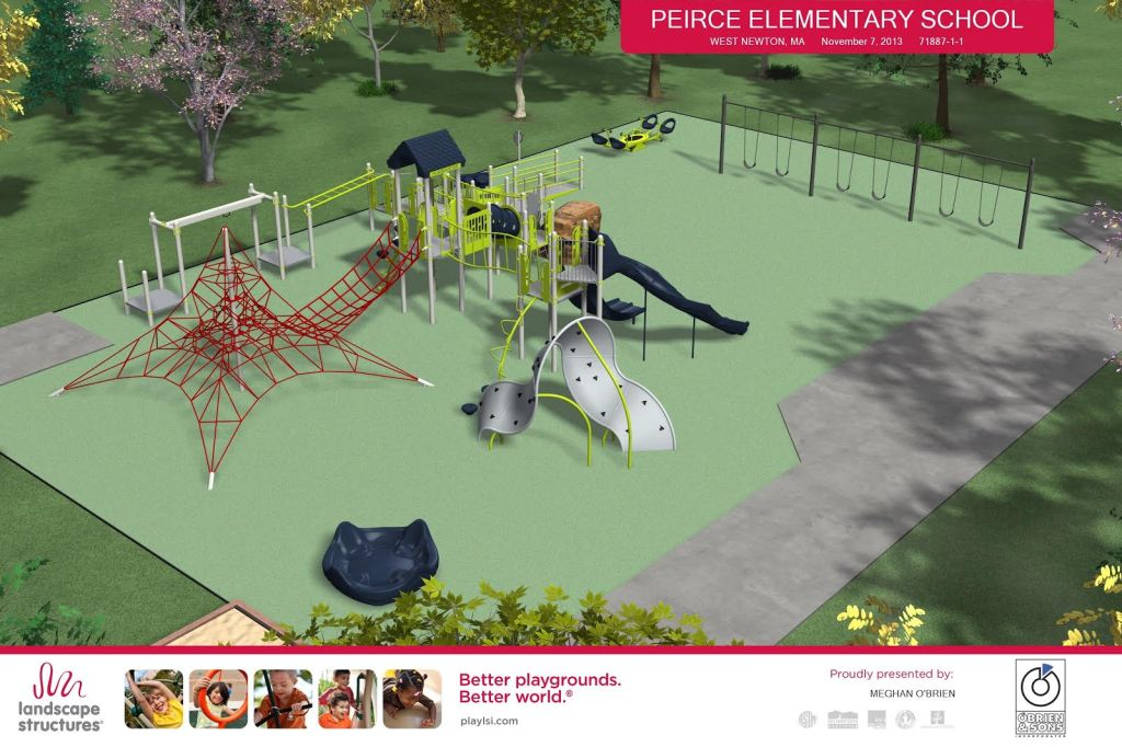 Peirce Elementary School Newton new playground