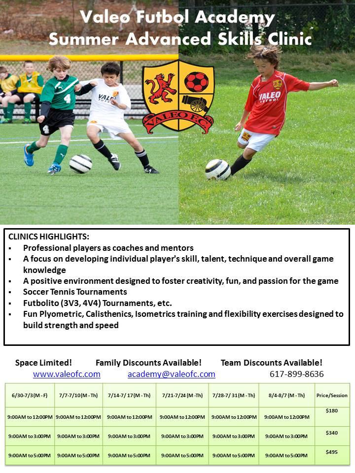 Valeo FC summer soccer camps