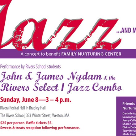Jazz Concert Fundraiser for Family Nurturing Center of Massachusetts