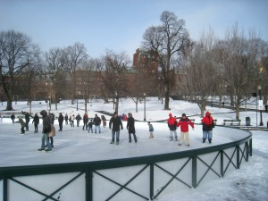 Ice Skating at Boston Common Frog Pond