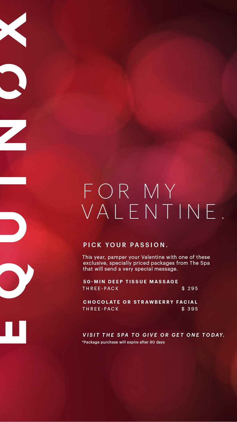 equinox offers relaxing valentines day packages