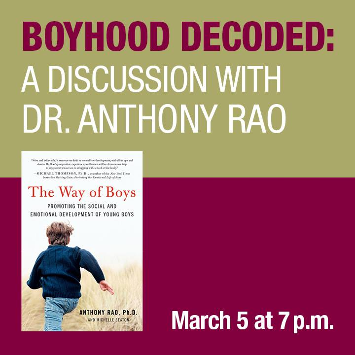 Free Lecture By Dr Anthony Rao On Parenting Boys I Love Newton