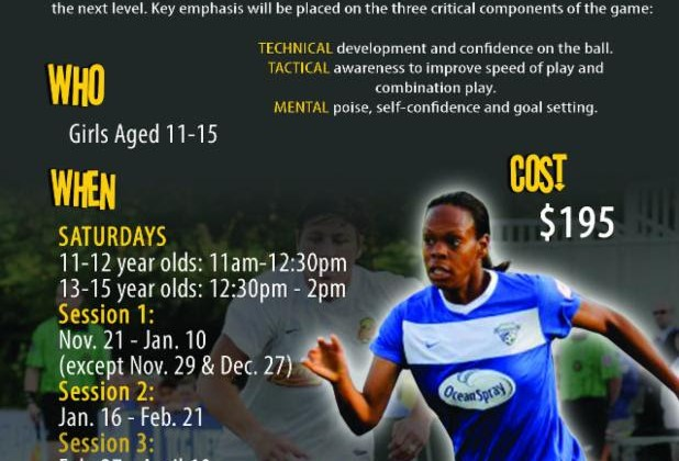 Kia McNeill Elite Skill Soccer Clinics for Girls