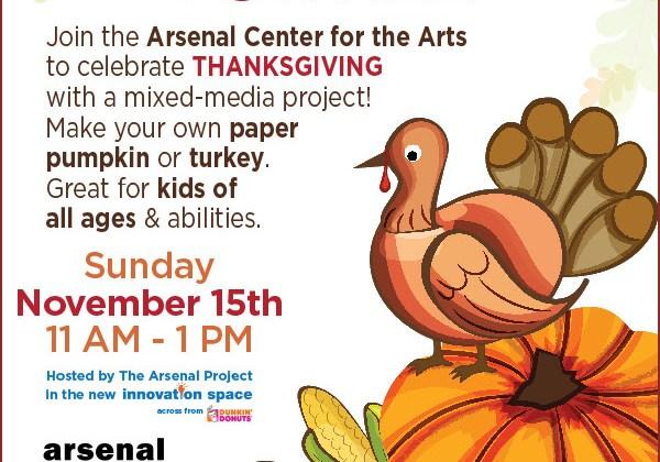 Thanksgiving Art Activity at Arsenal Arts