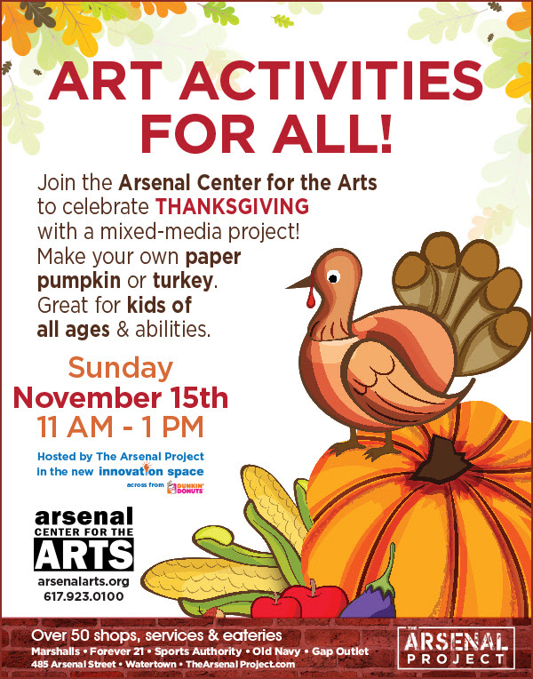 Thanksgiving Art Activity at Arsenal Arts