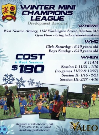 Valeo FC Winter Soccer Training