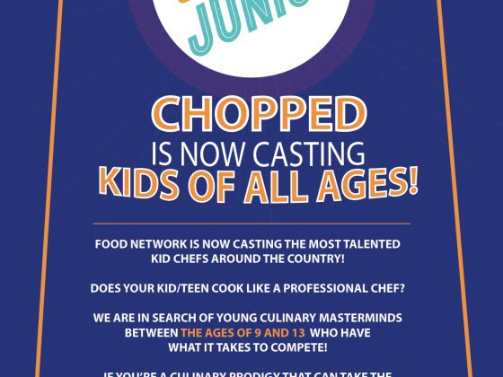 Chopped Junior Show CASTING Now