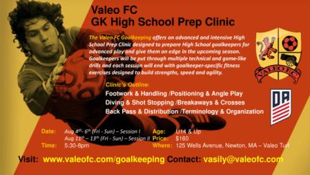 Elite GK High School Prep Clinic - Valeo Futbol Academy