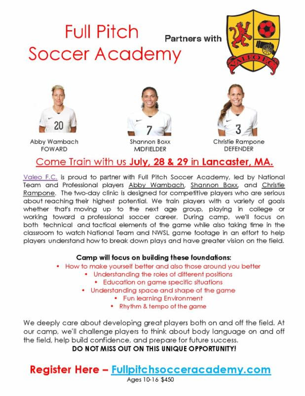 Opportunity for Girls to Train with National Soccer Team Players